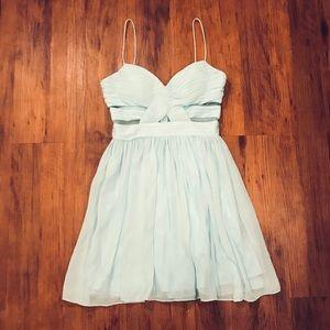 Hailey Logan Baby Blue Cocktail Dress